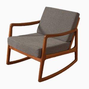 FD120 Rocking Chair by Ole Wanscher for France & Søn / France & Daverkosen, 1960s