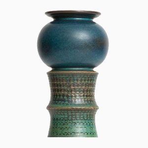 Vaso in ceramica di Stig Lindberg per Gustavsberg, anni '60