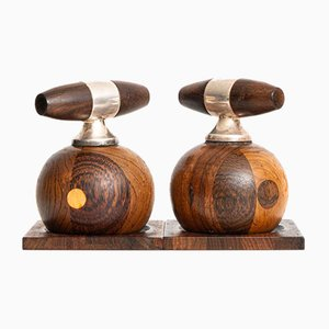Rosewood Salt & Pepper Mills by Richard Nissen, 1950s, Set of 2
