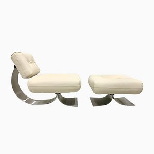 Alta Lounge Chair & Ottoman by Oscar Niemeyer for Mobilier International, 1970s