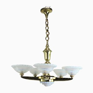 Vintage Art Deco Chandelier from Petitiot & Ezan