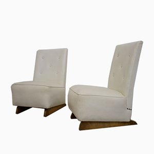 Art Deco Bedroom or Cocktail Chairs, Set of 2