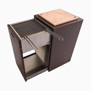 Compact Charcoal Garden Barbecue with Removable Grilles from MYOP