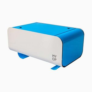Blau Transportabler Grillkocher aus Kohlefaser mit Kompaktkochfeld von MYOP