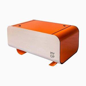 Barbacoa portátil de carbón naranja con superficie de cocción compacta de MYOP