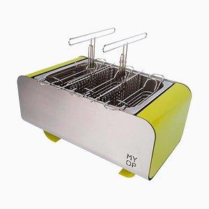 Barbecue Vert Transportable au Charbon Vert avec Cuisson Compacte Verticale de MYOP