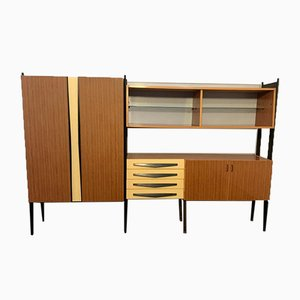 Laminate & Lacquered Wood Shelf, 1960s