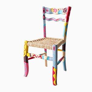 A Signurina Taormina Sessel aus handbemaltem Eschenholz von Antonio Aricò für MYOP