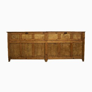 Antique Pitch Pine Shop Counter or Kitchen Island/Cupboard