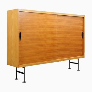 Ash and Walnut Highboard, 1960s