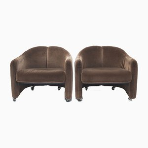 Armchairs by Eugenio Gerli for Tecno, 1969, Set of 2