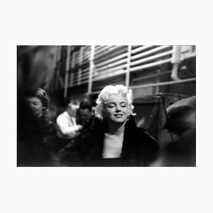 Marilyn Takes it to the Streets Silver Gelatin Resin Print Framed in Black by Ed Feingersh