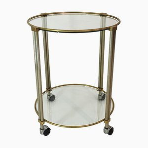 Round Drinks Bar Cart Trolley, 1970s