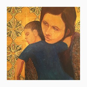 Mother And Child Painting by Alan Healey, 1977