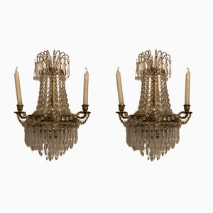 Antique Prisms Candleholders, Set of 2