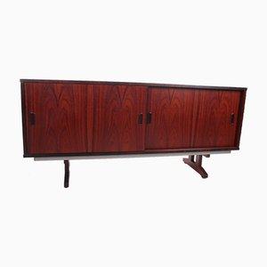 Danish Brazilian Rosewood Sliding Door Cabinet