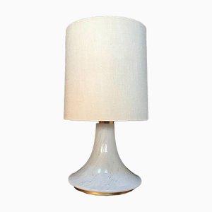 Grande Lampe de Bureau avec Pied en Verre Illuminé et en Laiton de Glashütte Limburg, 1960s