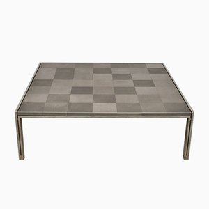 Large Vintage Luar Op Square Coffee Table by Ross Littell for ICF De Padova, 1970s