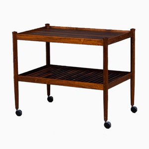 Vintage Danish Rosewood Serving Cart, 1960s