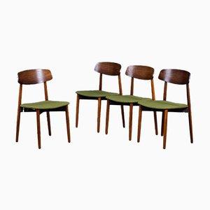 Vintage Palisander Esszimmerstühle von Harry Østergaard für Randers Møbelfabrik, 1960er, 4er Set