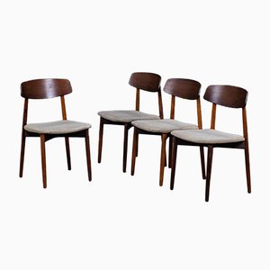 Mid-Century Rosewood Dining Chairs by Harry Østergaard for Randers Møbelfabrik, 1960s, Set of 4