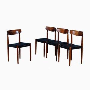 Mid-Century Palisander Esszimmerstühle von Knud Færch für Slagelse Møbelværk, 1950er, 4er Set