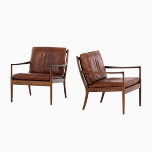Rosewood Samso Easy Chairs by Ib Kofod-Larsen for OPE, 1950s, Set of 2