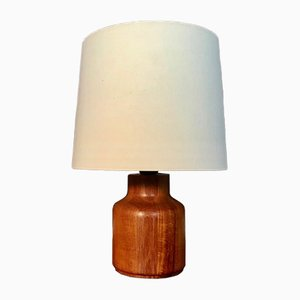 Danish Solid Teak Wood Table Lamp, 1960s
