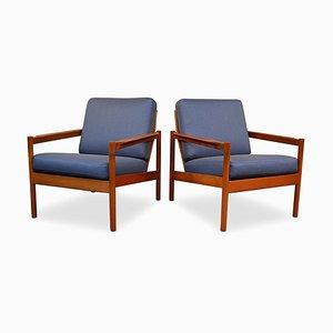 Mid-Century Teak Lounge Chairs from Magnus Olesen, Set of 2
