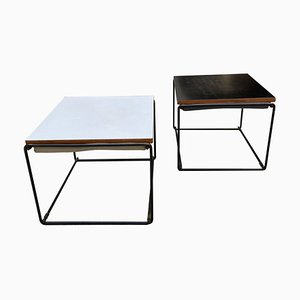 Vintage Side Tables by Pierre Guariche, 1975, Set of 2