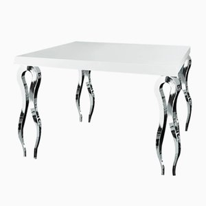 Italian Square High Table Silhouette in Wood and Steel from VGnewtrend
