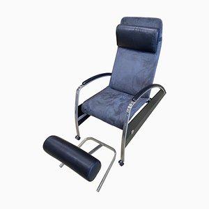 Großer Sessel & Fußhocker von Jean Prouvé für Tecta, 1980er, 2er Set