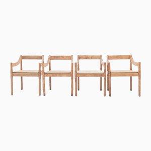 Carimate Esszimmerstühle von Vico Magistretti für Cassina, 1967, 4er Set