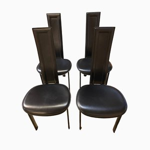 Vintage Italian Side Chairs from Cattelan, 1980s, Set of 4