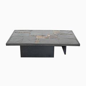 Black Rectangular Coffee Table by Paul Kingma, 1980s