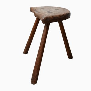 Early 20th-Century French Milking Stool or Side Table