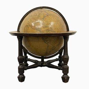 Globo terráqueo de Newton & Son, década de 1850