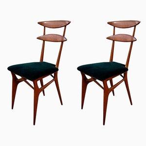 Esszimmerstühle von Silvio Cavatorta für Cavatorta, 1950er, 2er Set