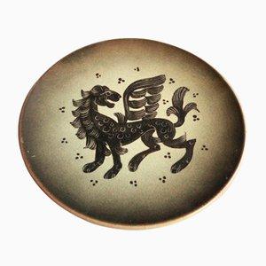 Bol en Céramique par Heinkel pour Karlsruher Majolika, 1940s