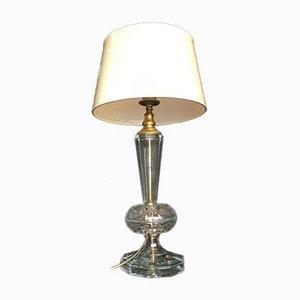 Tischlampe aus Kristallglas, 1980er