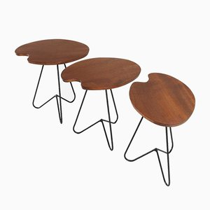 Mid-Century Side Tables, Set of 3