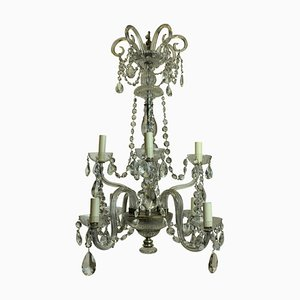 Antique French Cut Glass Chandelier