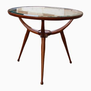 Italian Round Table in Cherry Wood from Cassina, 1950s