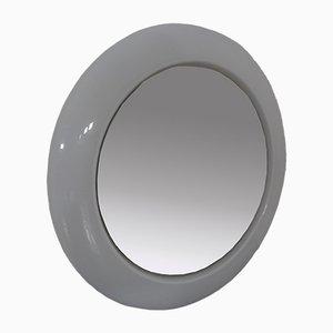 Runder Beleuchteter Opalglas Spiegel, 1960er