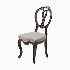 Rococo Style Carved Wooden Dining Chair, 1940s