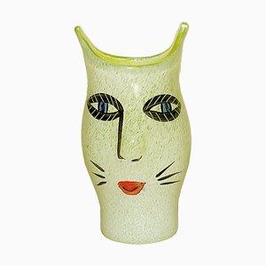 Swedish Mouth Blown Art Glass Vase by Ulrica Hydman Vallien for Kosta Boda, 1980s
