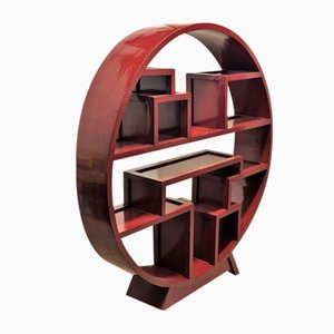 Wooden Chinese Moon Shelf