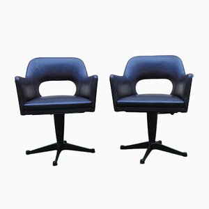 Mid-Century Swivel Chairs, Set of 2