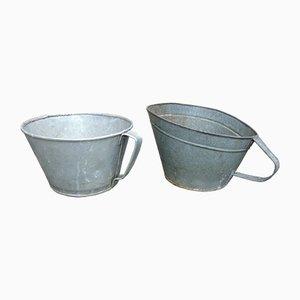 Industrielle Mid-Century Pflanzengefäße, 2er Set