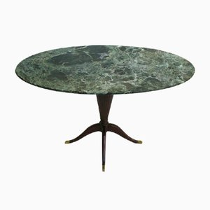 Oval Small Marble Table by Paolo Buffa, 1940s